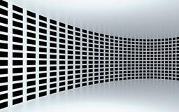 Abstracte 3d witte geometrische achtergrond Witte textuur met schaduw 3d geef terug Stock Foto's