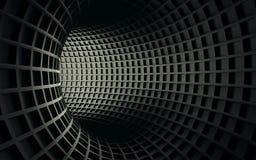 Abstracte 3d zwarte geometrische achtergrond Witte textuur met schaduw 3d geef terug Royalty-vrije Stock Afbeelding