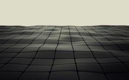 Abstracte 3d zwarte geometrische achtergrond Zwarte textuur met schaduw 3d geef terug Royalty-vrije Stock Afbeelding