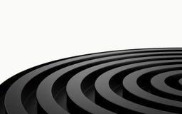 Abstracte 3d zwarte geometrische achtergrond Zwarte textuur met schaduw 3d geef terug Stock Fotografie