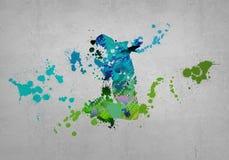 Abstracte Danser Royalty-vrije Stock Afbeeldingen