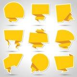 Abstracte de bellen vectorachtergrond van de origamitoespraak Stock Fotografie