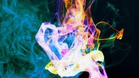 Abstracte de Bewegingsachtergrond van Grunge Art Ink Paint Spread Blast stock videobeelden