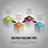 Abstracte de Bouwbovenkanten Infographic stock illustratie
