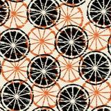 Abstracte de citrusvruchtenachtergrond van Grunge. Naadloos. Royalty-vrije Stock Foto's