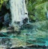 Abstracte de close-upachtergrond van de grungetextuur Het patroon van het olieverfschilderijontwerp Het uitstekende droge artisti vector illustratie