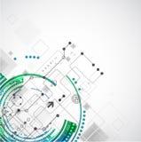 Abstracte de computer van de bedrijfs kleurentechnologie achtergrond stock illustratie