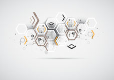 Abstracte de computertechnologie van bedrijfs Internet oplossing