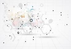 Abstracte de computertechnologie van bedrijfs Internet oplossing royalty-vrije illustratie
