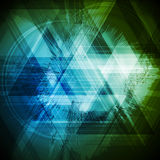 Abstracte de driehoekenachtergrond van technologie grunge stock illustratie
