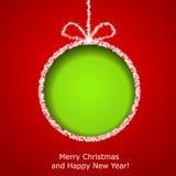 Abstracte de groetkaart van Kerstmis Stock Fotografie