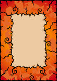 Abstracte de herfstachtergrond Stock Fotografie