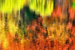 Abstracte Bezinning 3 van de Herfst Stock Fotografie