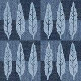 Abstracte de herfstbladeren - naadloze achtergrond - jeanstextuur stock illustratie