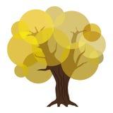 Abstracte de herfstboom Stock Foto's