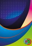 Abstracte de illustratieachtergrond van de kleur Stock Afbeeldingen