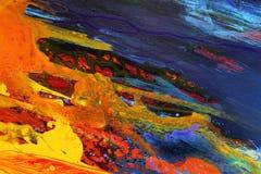Abstracte de kleurenachtergrond van de kunst Royalty-vrije Stock Afbeelding