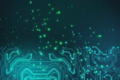 Abstracte de kringsachtergrond van de technologieraad Royalty-vrije Stock Afbeelding