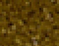 Abstracte de kunstachtergrond van de pixeltextuur van bruine schaduwenkubussen in minecraftstijl stock illustratie
