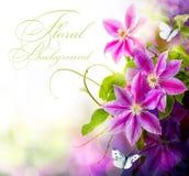 Abstracte de lente bloemenachtergrond stock illustratie