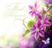 Abstracte de lente bloemenachtergrond van de kunst voor ontwerp Stock Foto