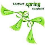 Abstracte de lenteachtergrond met greens op een witte achtergrond royalty-vrije illustratie
