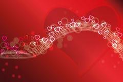 Abstracte de liefdekaart of achtergrond van de Valentijnskaart Royalty-vrije Illustratie