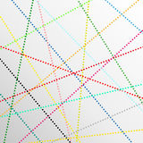 Abstracte de lijnenachtergrond van de kleurenpunt Stock Afbeelding