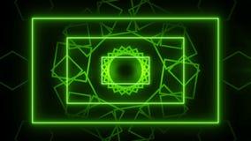 Abstracte de muziek van de lijnmotie Groene LIJN als achtergrond vector illustratie