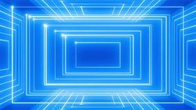 Abstracte de muziek van de lijnmotie omwenteling als achtergrond 360 LIJN rood-blauw stock video