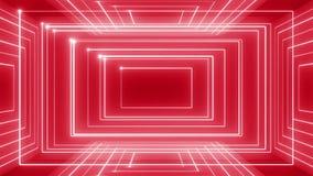 Abstracte de muziek van de lijnmotie omwenteling als achtergrond 360 LIJN rood-blauw stock videobeelden