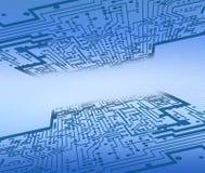 Abstracte de oppervlaktetextuur van de computer stock illustratie