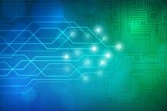Abstracte de raadsachtergrond van de Technologiekring Royalty-vrije Stock Afbeeldingen