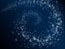 Abstracte de sneeuwvlokkenkaart van de winter. Royalty-vrije Stock Fotografie