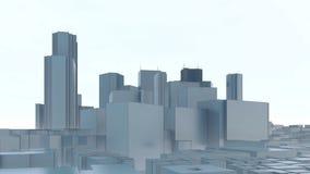 Abstracte de stadswolkenkrabbers van Tokyo op witte achtergrond vector illustratie