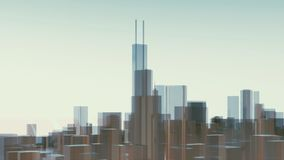 Abstracte de stadswolkenkrabbers Willis Tower van Chicago stock illustratie