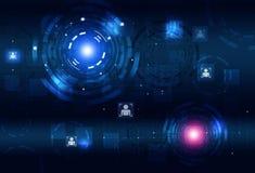 Abstracte de Technologieinterface van de conceptencirkel Royalty-vrije Stock Afbeelding