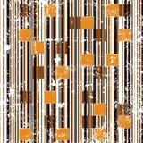 Abstracte de tegelsrooster van het grungemozaïek royalty-vrije illustratie