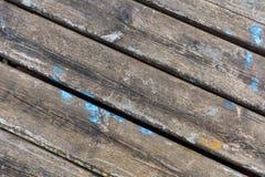 Abstracte de textuurachtergrond van de oppervlakte houten lijst Bluerusticmuur van Oude lijst wordt gemaakt die stock foto