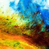 Abstracte de textuurachtergrond van waterkleuren royalty-vrije illustratie