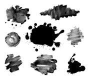 Abstracte de textuurvector van de inktverf Stock Afbeeldingen