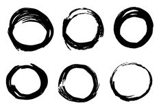 Abstracte de textuurvector van inktcirkels Royalty-vrije Stock Afbeeldingen