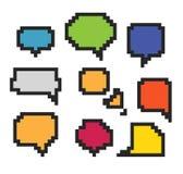 Abstracte de toespraakwolken van de kleur Stock Foto