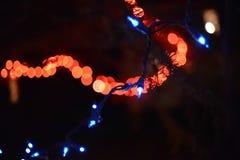 Abstracte de Vakantielichten van Kerstmislichten Royalty-vrije Stock Afbeelding