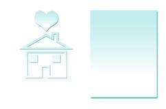 Abstracte de vormenachtergrond van de huisroom Stock Afbeeldingen