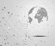 Abstracte de wereld digitale verbinding van het technologieconcept op hallo technologie-wit Royalty-vrije Illustratie