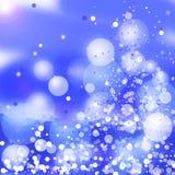 Abstracte de winterachtergrond Kerstmis Stock Afbeelding