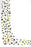 Abstracte de winterachtergrond met sterren Royalty-vrije Stock Foto's