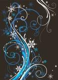 Abstracte de winterdecoratie Royalty-vrije Stock Afbeeldingen