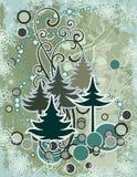 Abstracte de winterreeks Royalty-vrije Stock Afbeelding